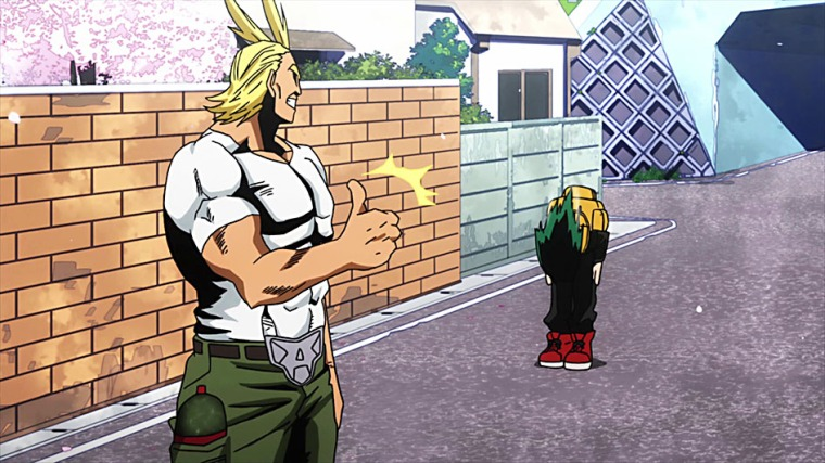 All Might acepta entrenar a Izuku Midoriya.