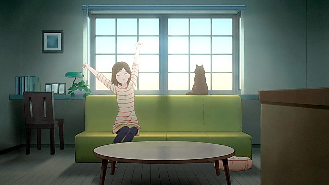 Miyu y Daru en el apartamento donde viven.