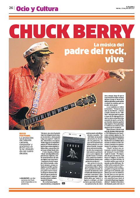 Página sobre Chuck Berry (13 de junio).