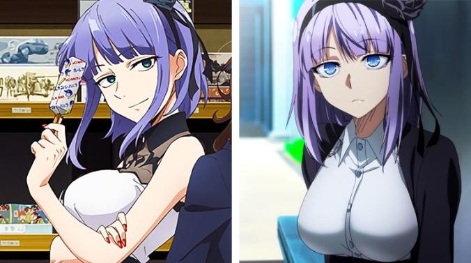 Comparación de diseño de Hotaru Shidare
