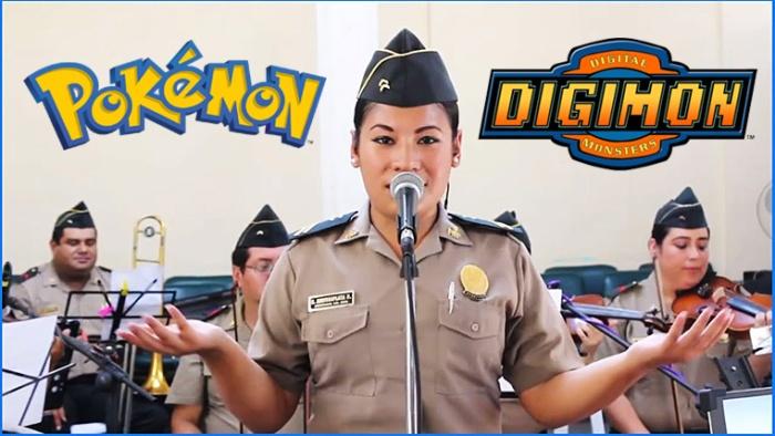Orquesta de la Policía Nacional del Perú interpreta temas de anime.