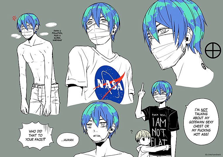 Earth-kun, ilustración. (vía Internet)