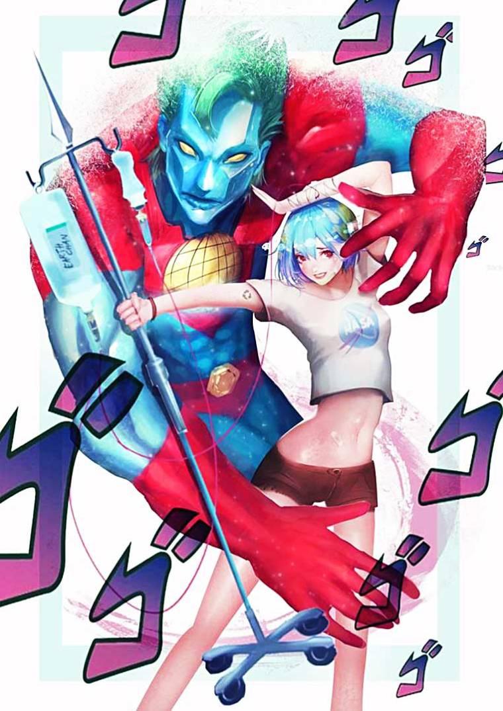 Earth-chan y Capitán Planeta, ilustración. (vía Internet)