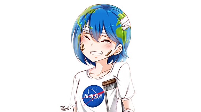 Earth-chan, ilustración. (vía Internet)